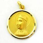 medalla virgen montserrat ½ perfil oro amarillo