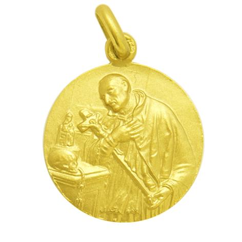 medalla san jose oriol oro amarillo