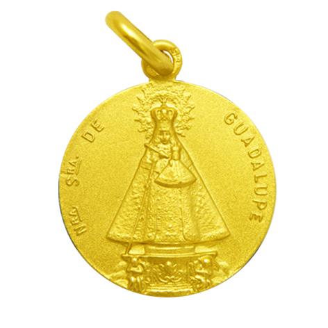 medalla nuestra señora de guadalupe oro amarillo
