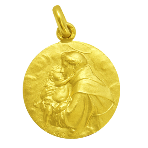 medalla san antonio de padua oro amarillo