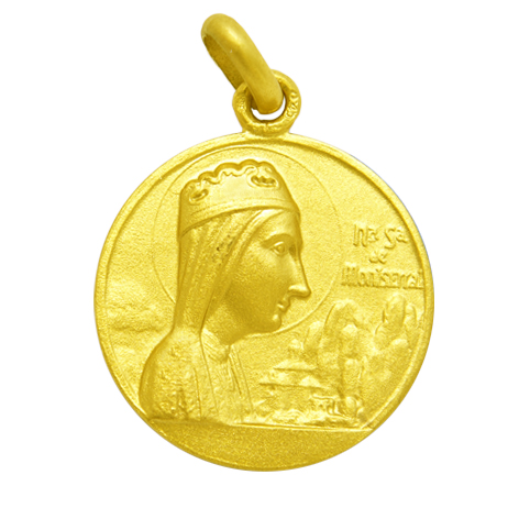 medalla nuestra señora montserrat oro amarillo