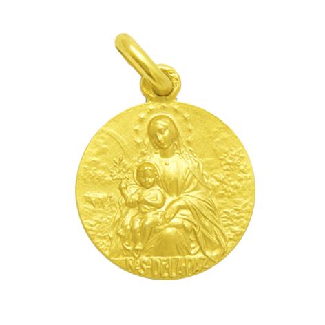 medalla nuestra señora de la paz oro amarillo