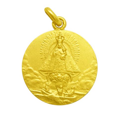 medalla virgen de la caridad del cobre oro amarillo