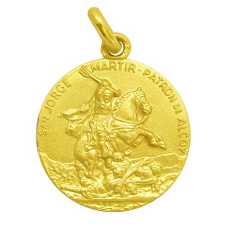 medalla san jorge martir patron de alcoy oro amarillo
