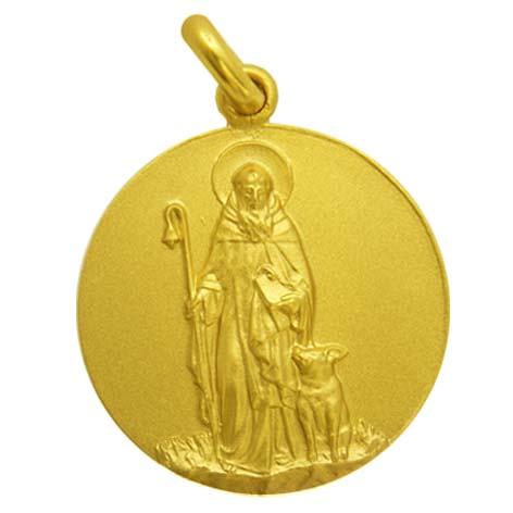 medalla san antonio abad oro amarillo