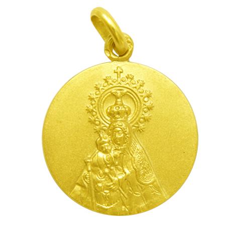 medalla nuestra señora del mar oro amarillo