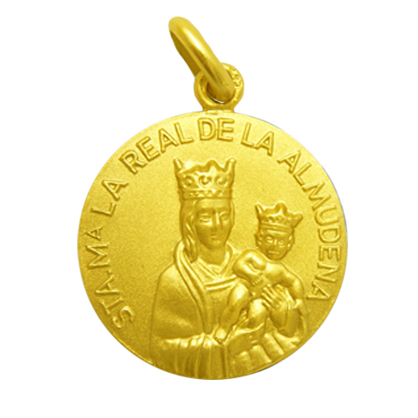 medalla santa maria la real de la almudena oro amarillo