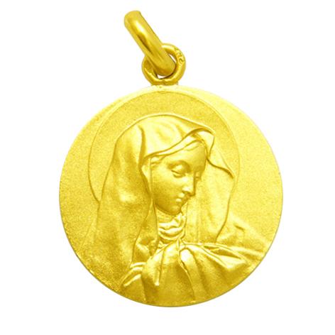 medalla virgen de los dolores oro amarillo