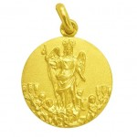 medalla san rafael de cordoba oro amarillo