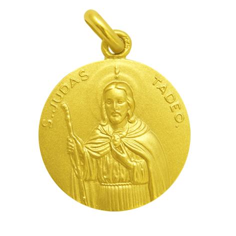 medalla san judas tadeo oro amarillo