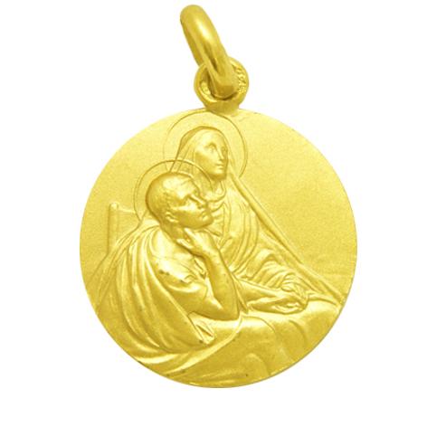 medalla santa monica oro amarillo