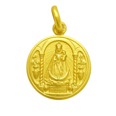 medalla virgen fuensanta oro amarillo