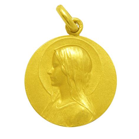 medalla ave velo oro amarillo