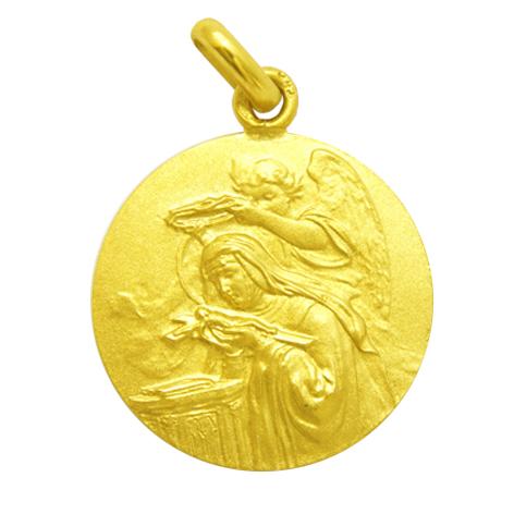 medalla santa rita oro amarillo