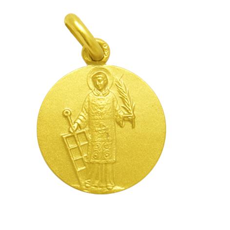 medalla san lorenzo oro amarillo