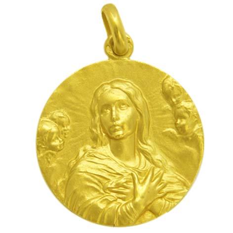 medalla la purisima concepcion busto