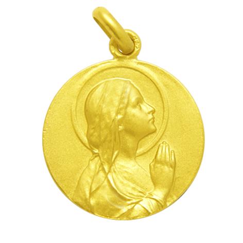medalla ave manos oro amarillo