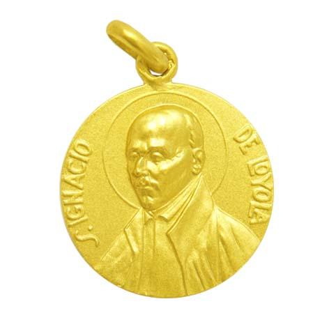 medalla san ignacio de loyola oro amarillo