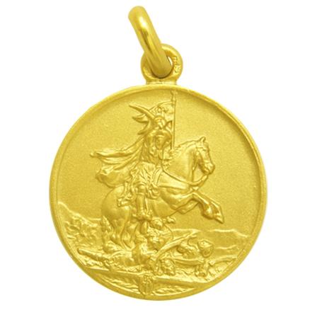 medalla san jaime / santiago oro amarillo