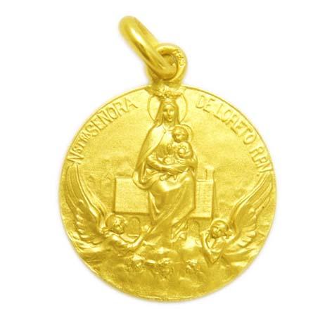medalla nuestra señora de loreto oro amarillo