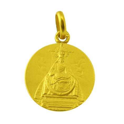 medalla virgen de las angustias de frente oro amarillo