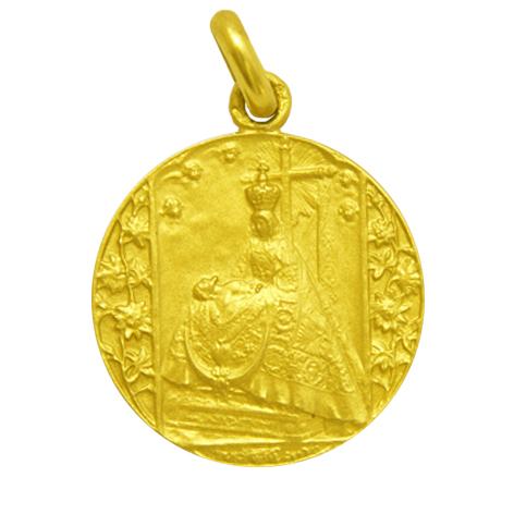 medalla virgen de las angustias oro amarillo