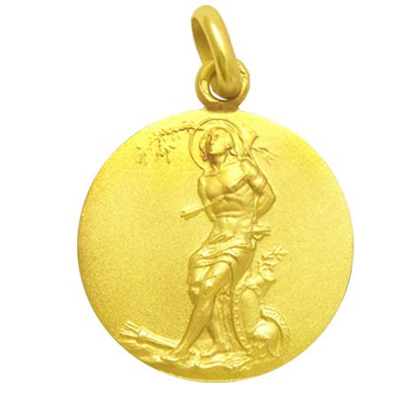 medalla san sebastian oro amarillo