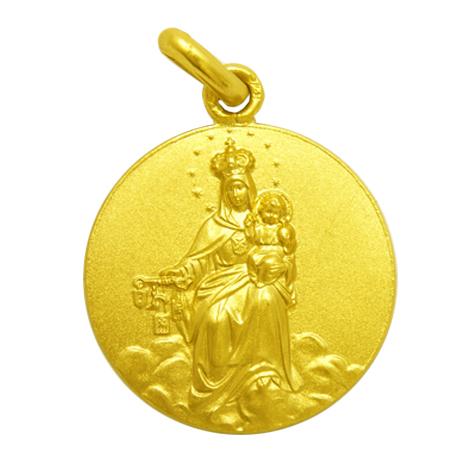 medalla virgen de la merced oro amarillo