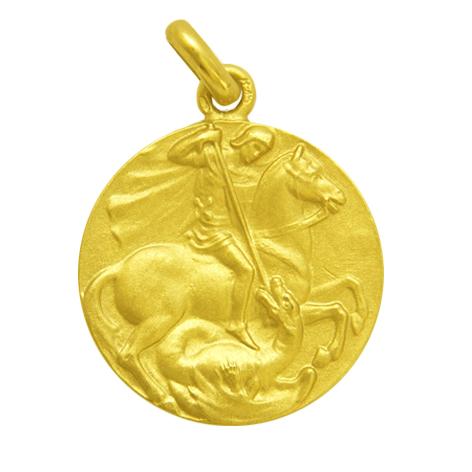 medalla san jorge oro amarillo