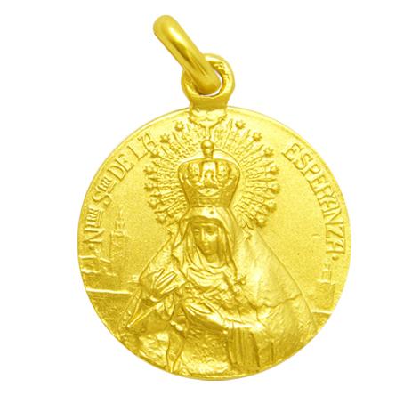 medalla nuestra señora de la esperanza / macarena oro amarillo