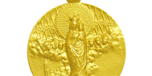 Medalla Virgen del Pilar Reja