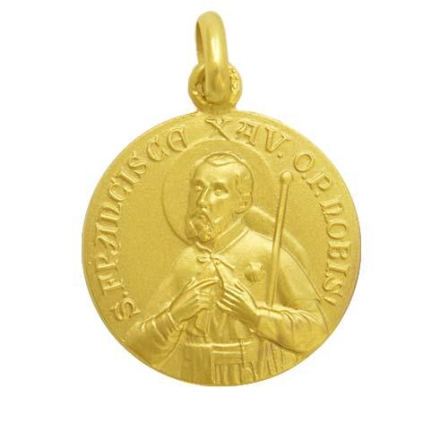 medalla san francisco javier oro amrillo