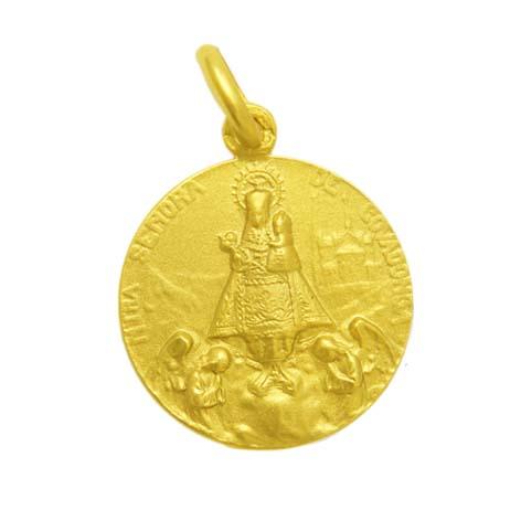 medalla nuestra señora de covadonga oro amarillo