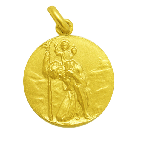 medalla san cristobal oro amarillo