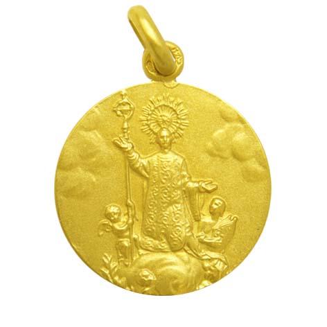 medalla san narciso oro amarillo