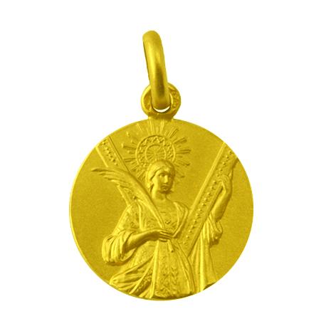 medalla santa eulalia oro amarillo
