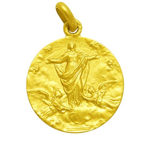 medalla nuestra señora de la asuncion oro amarillo