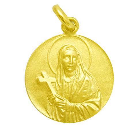 medalla santa elena oro amarillo