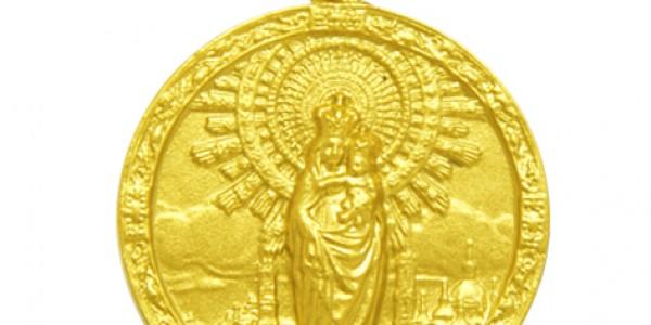 Medalla Virgen del Pilar con orla