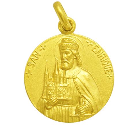 medalla san enrique oro amarillo