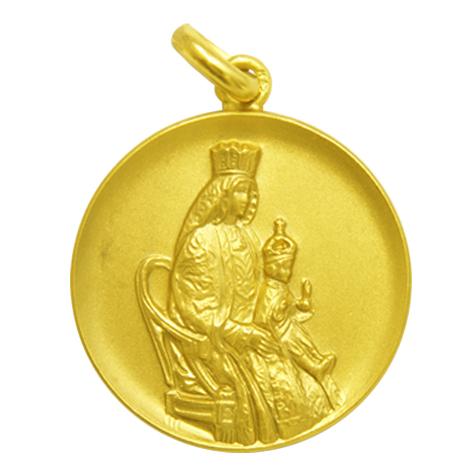medalla nuestra señora de los reyes oro amarillo