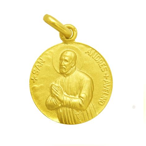 medalla san andres avelino oro amarillo