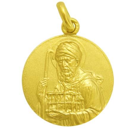 medalla san joaquin oro amarillo