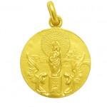medalla virgen del pilar oro amarillo