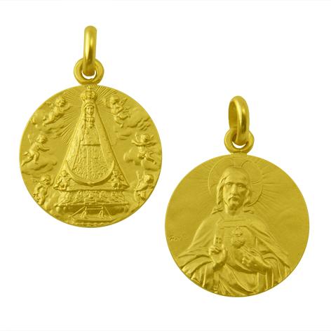 medalla virgen begona sagrado corazon oro amarillo
