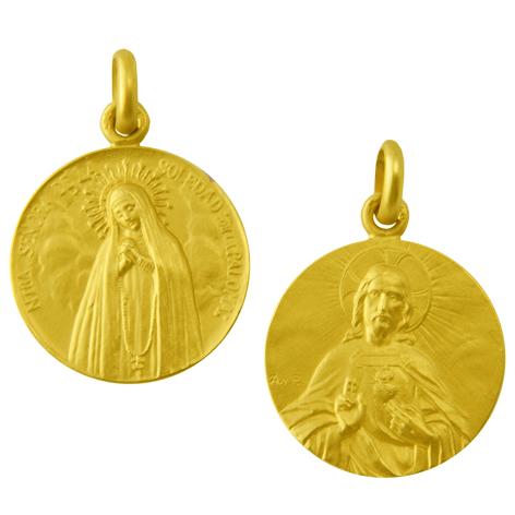 medalla Nuestra Señora de la soledad de la paloma sagrado corazon oro amarillo