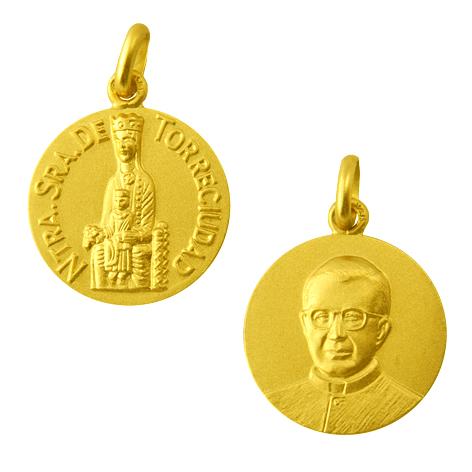 medalla nuestra señora de torreciudad san jose maria escriva de balaguer oro amarillo
