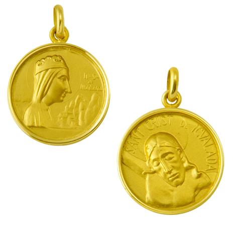 medalla nuestra señora de montserrat cristo igualada oro amarillo
