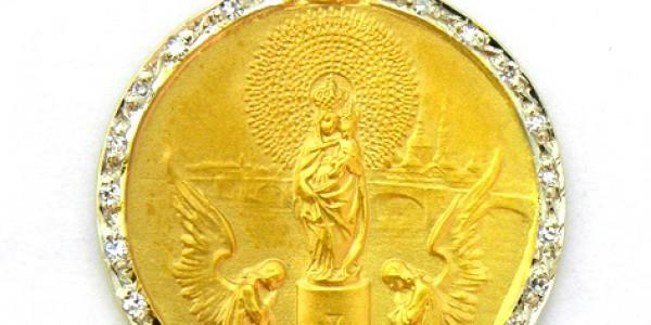 Medalla Virgen del Pilar con orla de brillantes