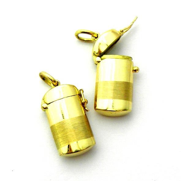 pastillero oro amarillo brillo franja mate cierre ocho